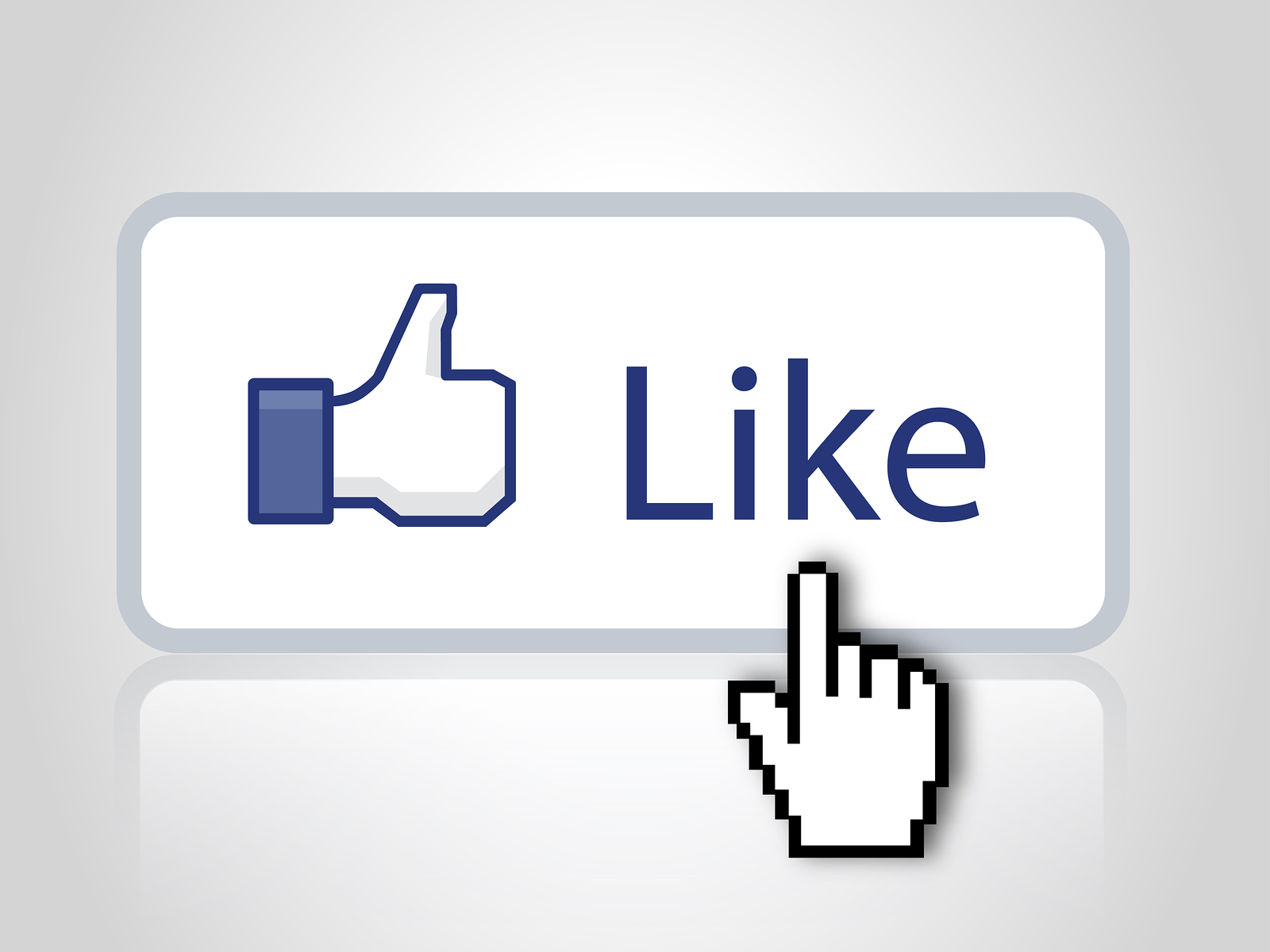 Like button with mouse cursor
