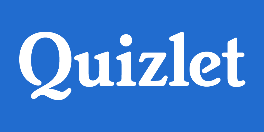 image used with permission from Quizlet
