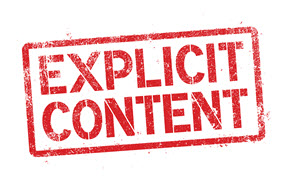 The words Explicit Content written in heavy red font within thick red box