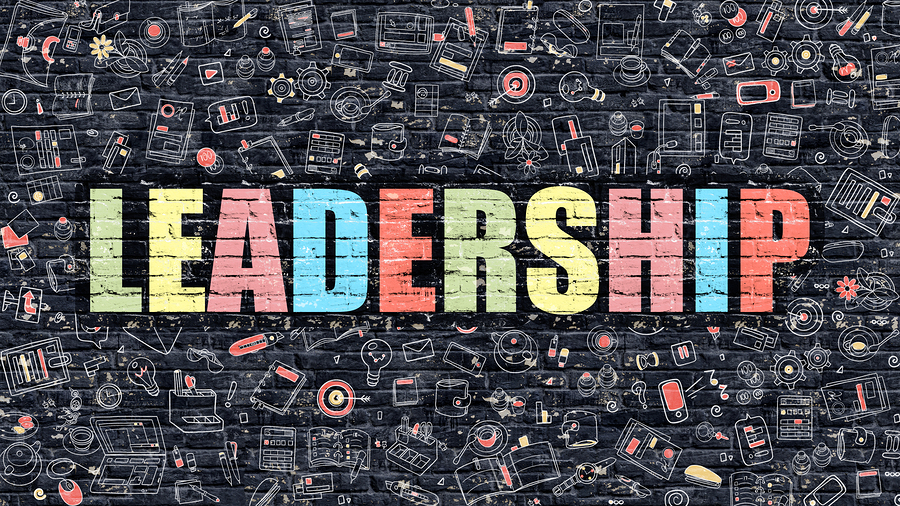the word leadership written on a black background