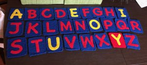 A handicraft of the alphabet described by the author in the post.