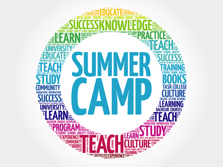 Summer Camp word cloud , education concept